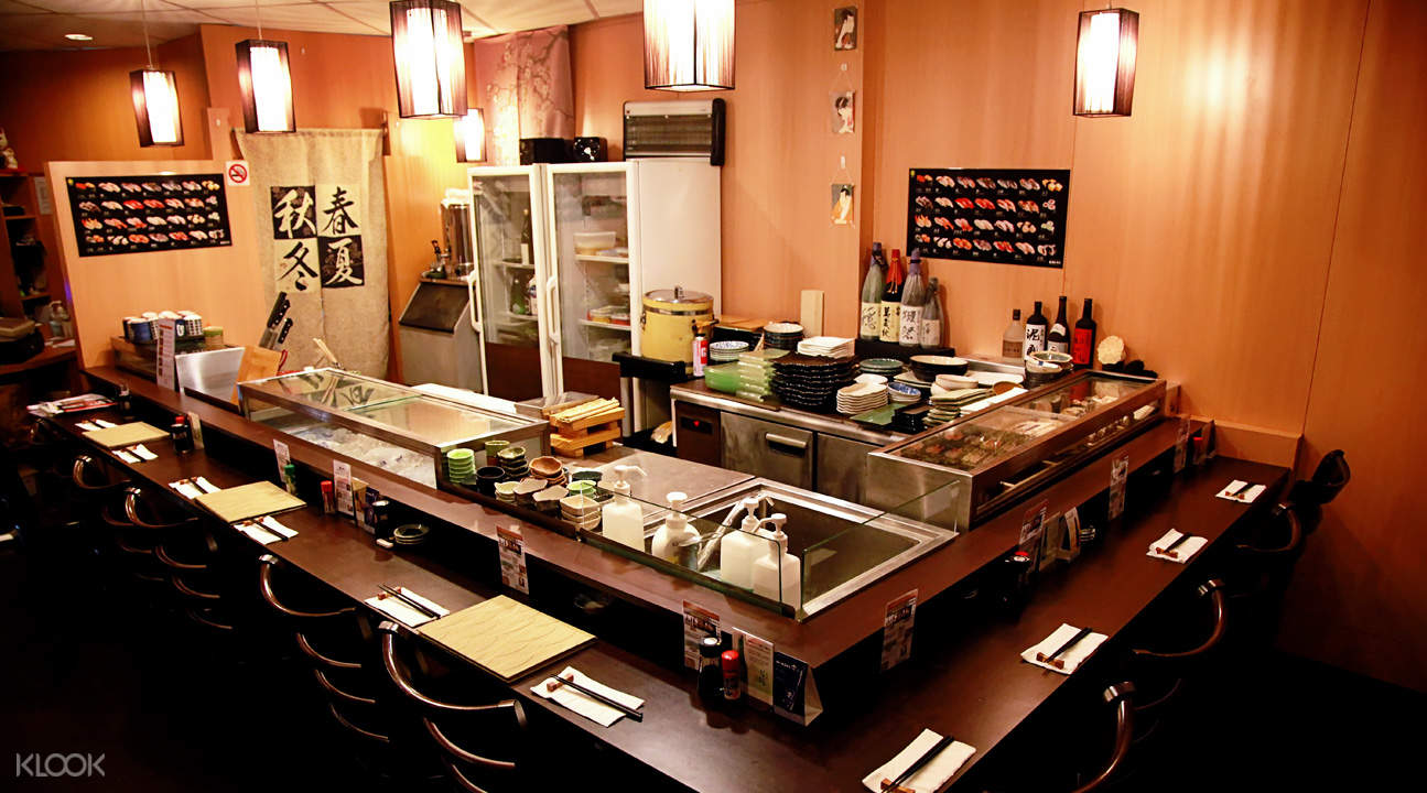 Interior of Kan Sushi in Tanjong Pagar